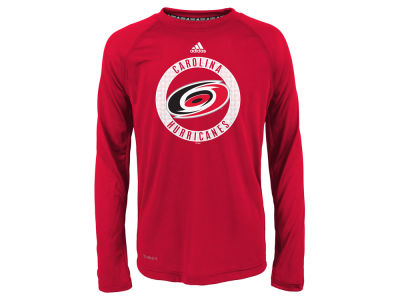 Carolina Hurricanes Outerstuff NHL Youth Practice Graphic Long Sleeve T-Shirt