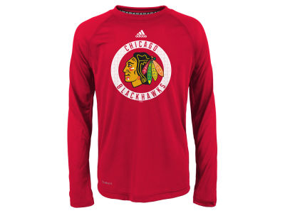 Chicago Blackhawks Outerstuff NHL Youth Practice Graphic Long Sleeve T-Shirt