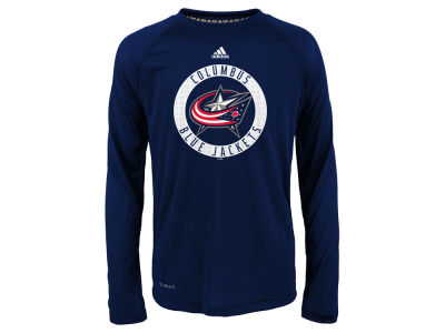 Columbus Blue Jackets Outerstuff NHL Youth Practice Graphic Long Sleeve T-Shirt
