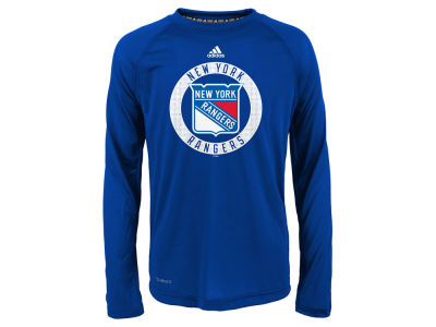 New York Rangers Outerstuff NHL Youth Practice Graphic Long Sleeve T-Shirt
