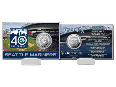 Seattle Mariners Coin Card-Silver