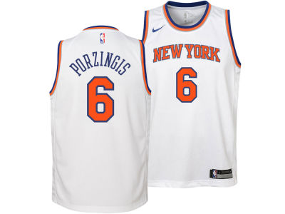 73bc539d5 ... New York Knicks Kristaps Porzingis Nike NBA Youth Association Swingman  Jersey ...