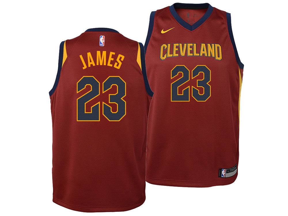 Cleveland Cavaliers Lebron James Nike NBA Youth Icon Swingman Jersey ... 9a58284cb