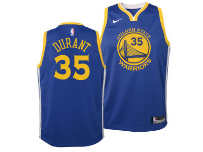 Golden State Warriors Kevin Durant Nike NBA Youth Icon Swingman Jersey
