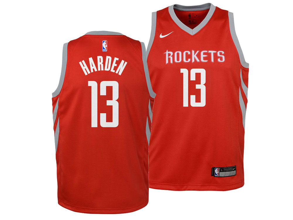 0dba51edb Houston Rockets James Harden Nike NBA Youth Icon Swingman Jersey ...