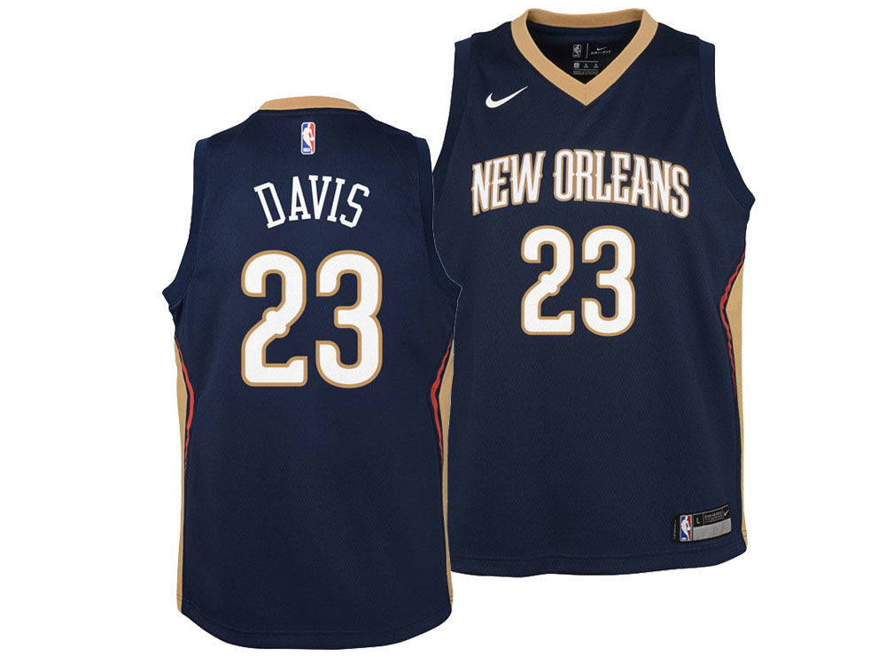 ... promo code new orleans pelicans anthony davis nike nba youth icon  swingman jersey 753b2 ce268 884ea7d0a