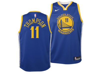 Golden State Warriors Klay Thompson Nike NBA Youth Icon Swingman Jersey