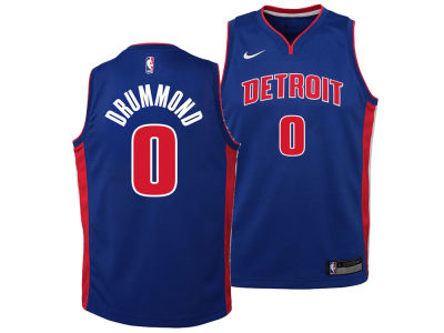 Detroit Pistons Andre Drummond Nike NBA Youth Icon Swingman Jersey