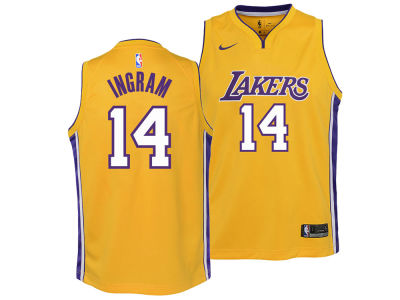 Los Angeles Lakers Brandon Ingram Nike NBA Youth Icon Swingman Jersey
