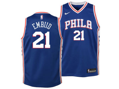 Philadelphia 76ers Joel Embiid Nike NBA Youth Icon Swingman Jersey