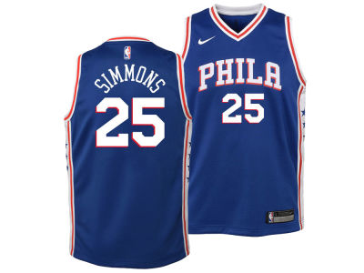 Philadelphia 76ers Ben Simmons Nike NBA Youth Icon Swingman Jersey