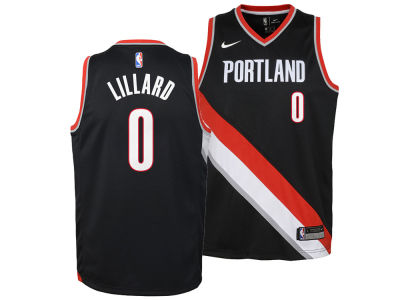 Portland Trail Blazers Damian Lillard Nike NBA Youth Icon Swingman Jersey