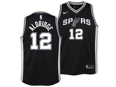 San Antonio Spurs Lamarcus Aldridge Nike NBA Youth Icon Swingman Jersey