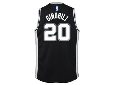 San Antonio Spurs Manu Ginobili Nike NBA Youth Icon Swingman Jersey