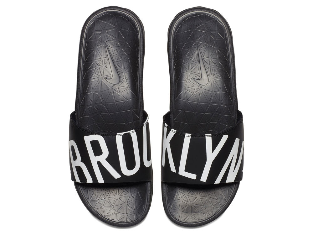 81c22afe5f9f Brooklyn Nets Nike Men s Benassi Solarsoft Slide Sandals