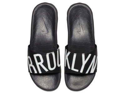 Brooklyn Nets Nike Men's Benassi Solarsoft Slide Sandals