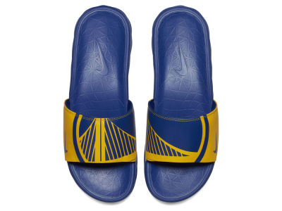 Golden State Warriors Nike Men's Benassi Solarsoft Slide Sandals