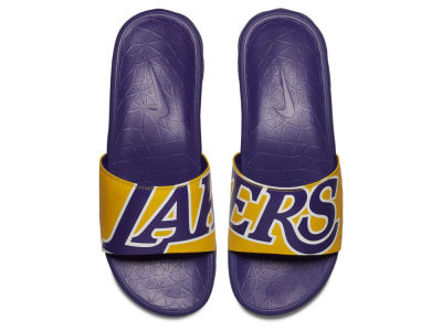 Los Angeles Lakers Nike Men's Benassi Solarsoft Slide Sandals