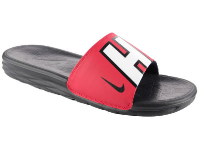 Miami Heat Nike Men's Benassi Solarsoft Slide Sandals