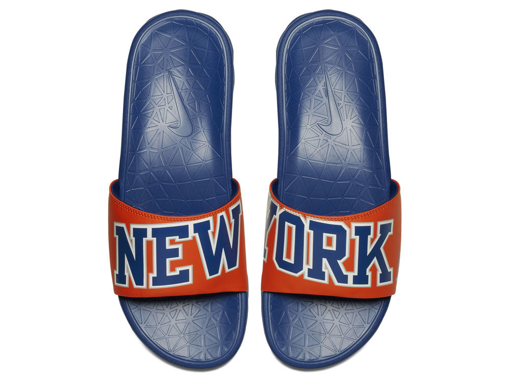 6be07332242040 New York Knicks Nike Men s Benassi Solarsoft Slide Sandals