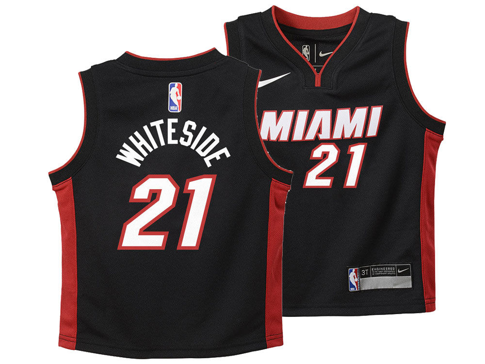 5584013e0 Miami Heat Hassan Whiteside Nike NBA Kids Icon Replica Jersey