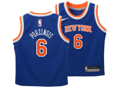 New York Knicks Kristaps Porzingis Nike NBA Kids Icon Replica Jersey