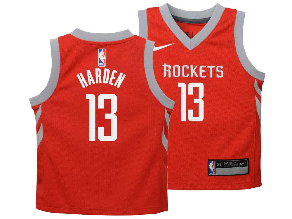 Houston Rockets James Harden Nike NBA Toddler Icon Replica Jersey ... 3c2d3f838