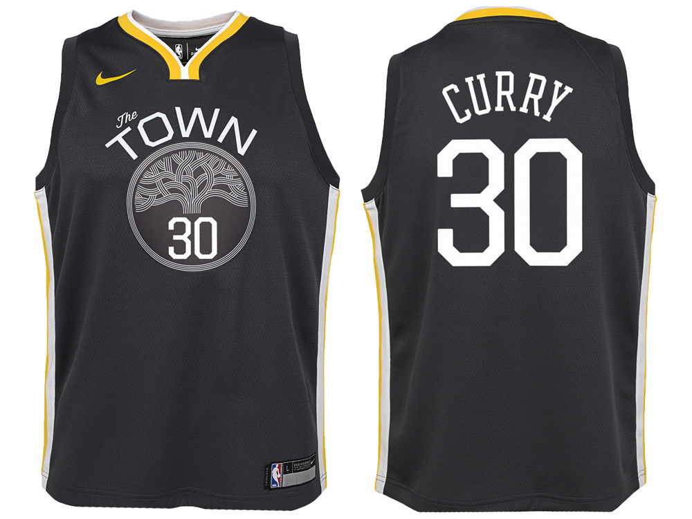 Golden State Warriors Stephen Curry Nike NBA Youth Statement Swingman Jersey   8b9089029