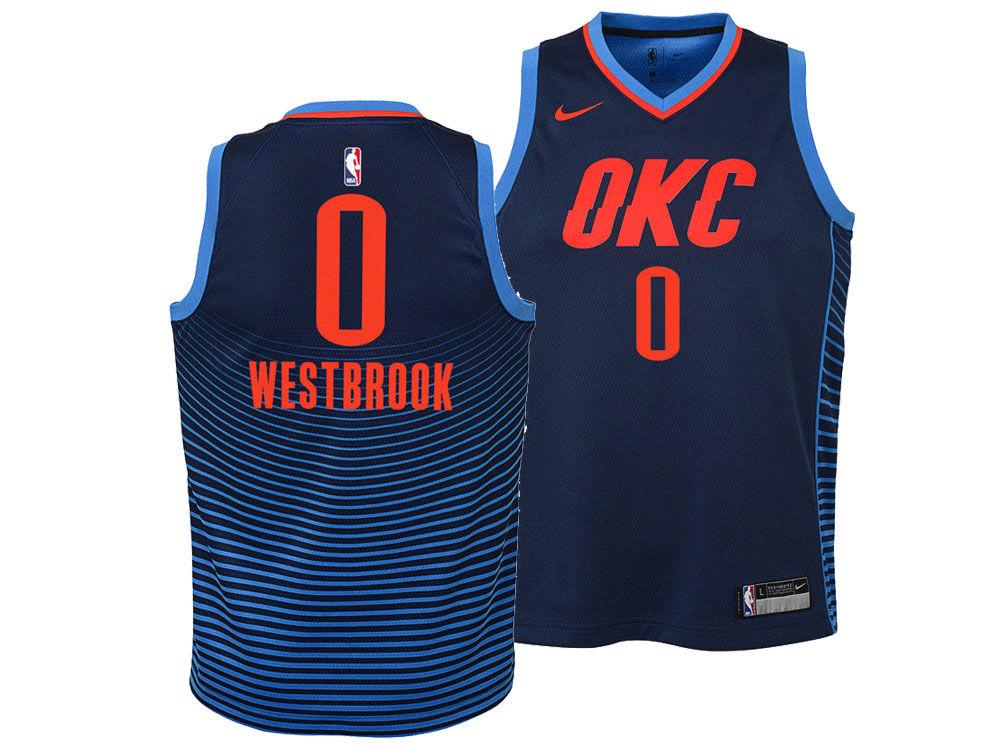 c091461e6 Oklahoma City Thunder Russell Westbrook Nike NBA Youth Statement Swingman  Jersey