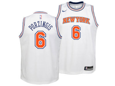 New York Knicks Kristaps Porzingis Nike NBA Youth Statement Swingman Jersey