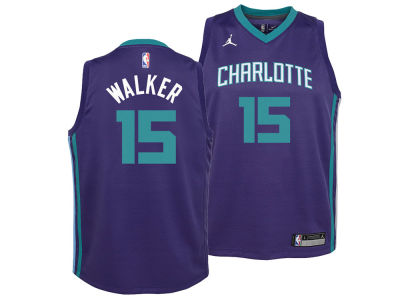 Charlotte Hornets Kemba Walker Nike NBA Youth Statement Swingman Jersey