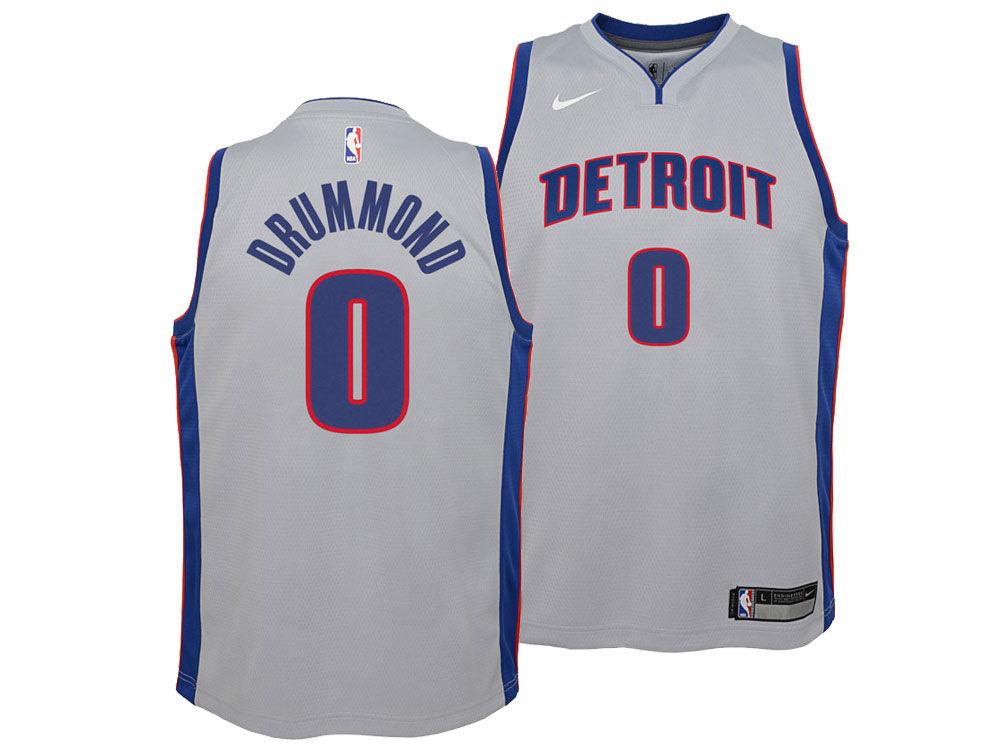 Detroit Pistons Andre Drummond Nike NBA Youth Statement Swingman Jersey 4adbffe88ee0