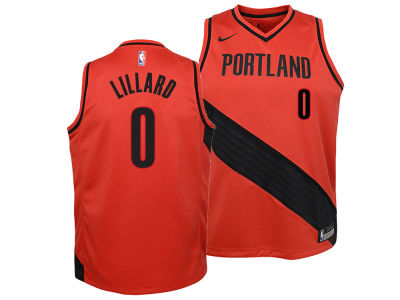 Portland Trail Blazers Damian Lillard Nike NBA Youth Statement Swingman Jersey
