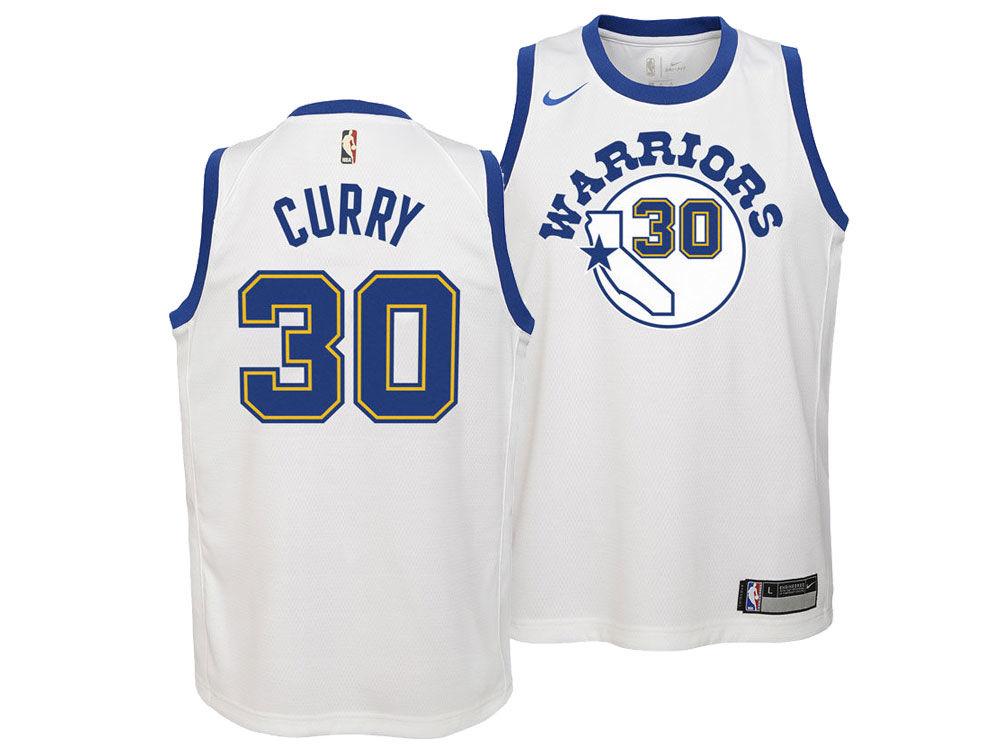 Golden State Warriors Stephen Curry Nike NBA Youth Hardwood Classic  Swingman Jersey  7d57045e7