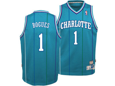 Charlotte Hornets Muggsy Bogues adidas NBA Youth Retired Player Swingman Jersey