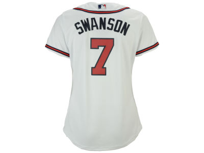 Atlanta Braves Dansby Swanson Majestic MLB Women's Cool Base Player Replica Jersey
