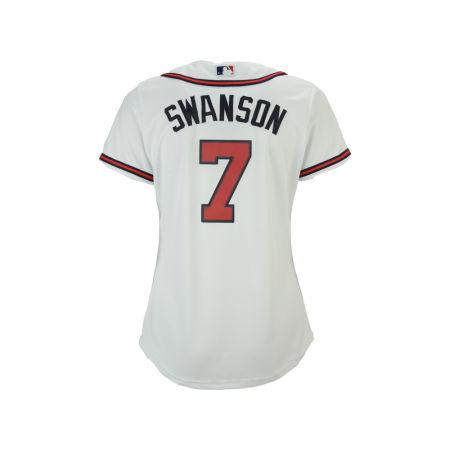 Atlanta Braves Dansby Swanson MLB Women's Cool Base Player Replica Jersey