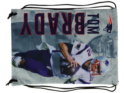 New England Patriots Tom Brady Forever Collectibles Player Printed Drawstring Bag