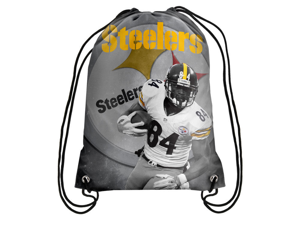 96f80bbc464 Pittsburgh Steelers Antonio Brown Forever Collectibles Player Printed  Drawstring Bag   lids.com