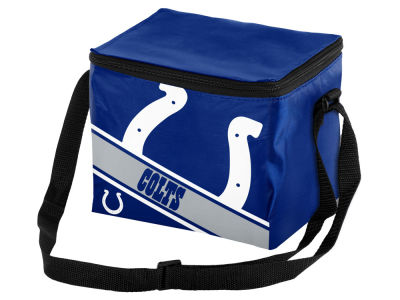 Indianapolis Colts 6-pack Big Logo Stripe Lunch Cooler