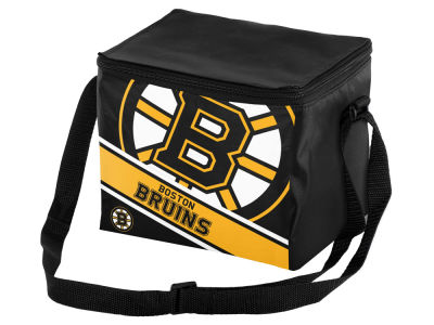 Boston Bruins 6-pack Big Logo Stripe Lunch Cooler