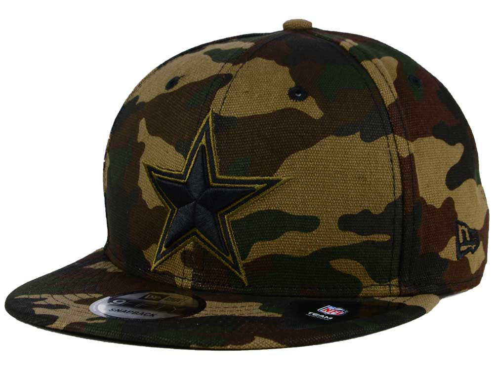 6de8a40af4e Dallas Cowboys New Era NFL Camo on Canvas 9FIFTY Snapback Cap