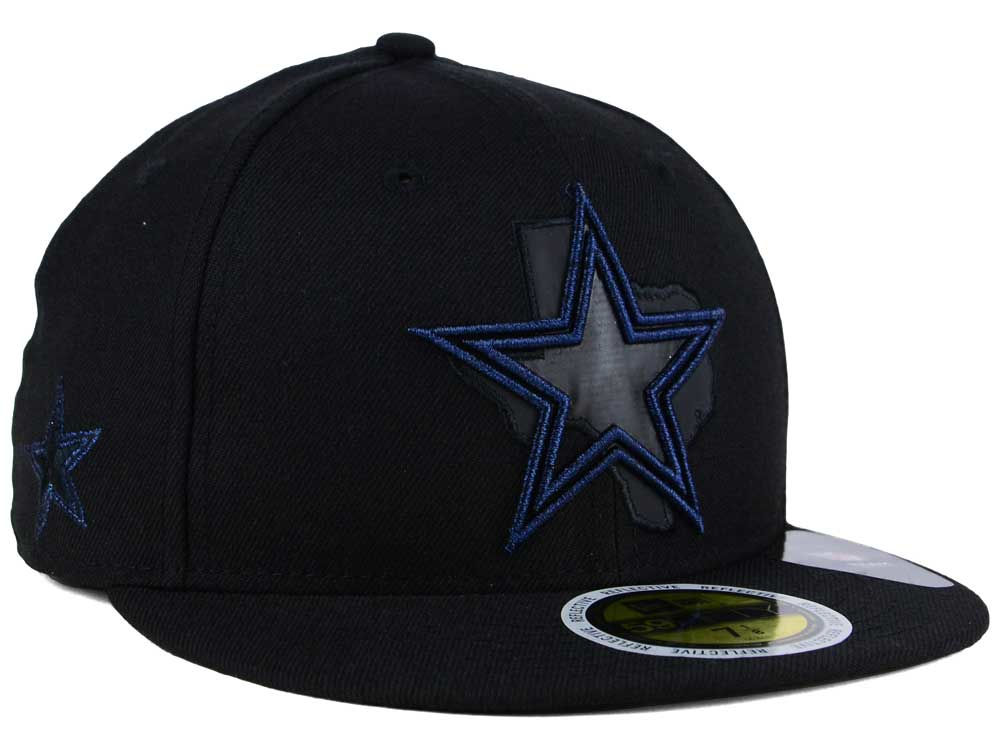 7e85afecc Dallas Cowboys New Era NFL State Flective Metallic 59FIFTY Cap ...