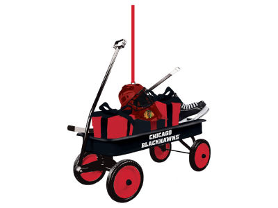 Chicago Blackhawks Team Wagon Ornament