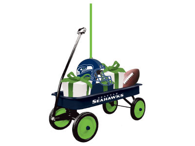 Seattle Seahawks Team Wagon Ornament