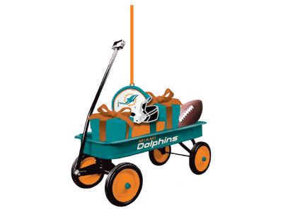 Miami Dolphins Team Wagon Ornament