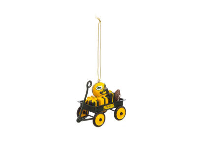 Green Bay Packers Team Wagon Ornament