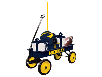 Michigan Wolverines Team Wagon Ornament