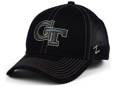Georgia-Tech Zephyr NCAA Staple Trucker Blackout Cap