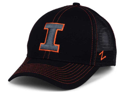 Illinois Fighting Illini Zephyr NCAA Staple Trucker Blackout Cap